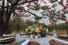 Detalhe arranjo de mesas